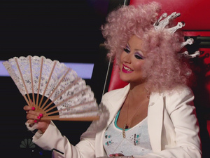 Christina Aguilera NBC's 'The Voice' Season 3, Episode 21 The Vocalists face elimination; Cee Lo Green and Christina Aguilera perform USA - 13.11.12 Supplied by WENN.comWENN does not claim any ownership including but not limited to Copyright or License in the attached material. Any downloading fees charged by WENN are for WENN's services only, and do not, nor are they intended to, convey to the user any ownership of Copyright or License in the material. By publishing this material you expressly agree to indemnify and to hold WENN and its directors, shareholders and employees harmless from any loss, claims, damages, demands, expenses (including legal fees), or any causes of action or  allegation against WENN arising out of or connected in any way with publication of the material.