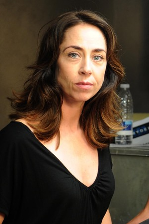 Sofie Grabol who plays Detective Inspector Sarah Lund with Sigurd Holmen Le Dous who plays her new police partner Asbjorn Juncker