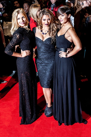 Mollie King, Vanessa White and Frankie Sandford of The Saturdays The Twilight Saga: Breaking Dawn 2 European Premiere held at the Empire, Leicester Square - Arrivals. London, England