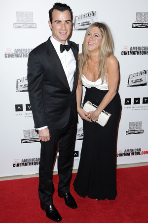26th American Cinematheque Award Gala honoring Ben Stiller at The Beverly Hilton Hotel Featuring: Justin Theroux,Jennifer Aniston Where: Beverly Hills