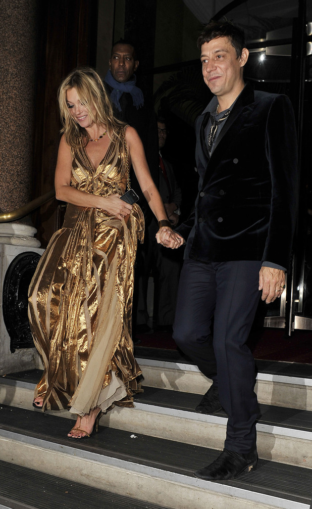 Kate Moss and Jamie Hince at the after party celebrating the launch of 'Kate: The Kate Moss Book' hosted by Marc Jacobs, published by Rizzoli New York and supported by Ciroc Ultra Premium Vodka at 50 St. James. London, England