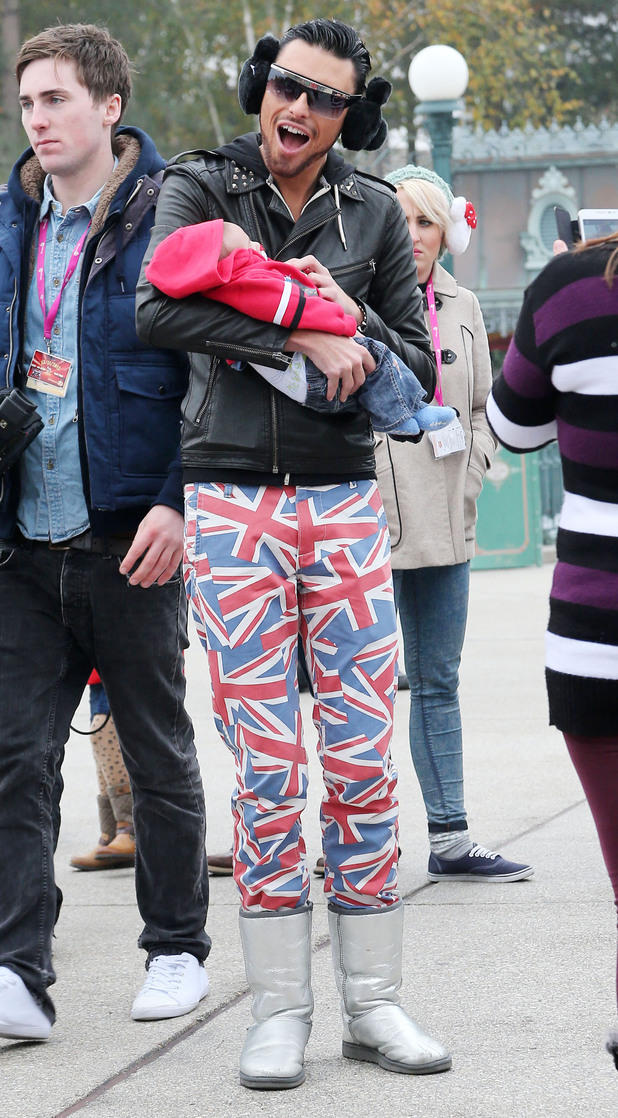Rylan Clark The X Factor finalists enjoy a day out at Disneyland Paris Paris, France
