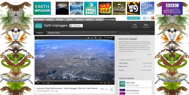 BBC launches Earth Unplugged on YouTube
