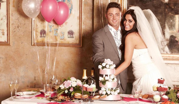 Geordie Shore stars Vicky Pattison and Ricci Guarnaccio pose in a wedding-themed shoot for Now.