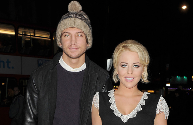 Tom Kilbey and Lydia Rose-Bright Lipsy Love Fragrance - Arrivals. London, England - 06.11.12 Mandatory Credit: Will Alexander/WENN.com