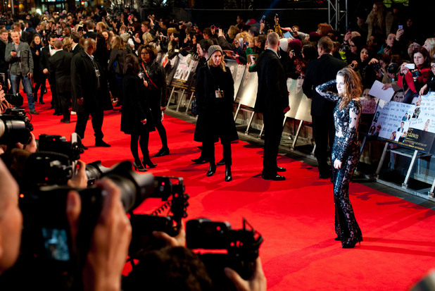 Kristen Stewart arriving at the Twilight Saga - Breaking Dawn Part II premiere, in Leicester Square, London