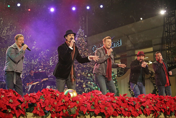 Backstreet Boys (L-R) Brian Littrell, Kevin Richardson, Nick Carter, A.J. McLean, and Howie Dorough 10th Annual Hollywood Christmas Celebration at The Grove Los Angeles, California - 11.11.12 Mandatory Credit: Brian To/WENN.com