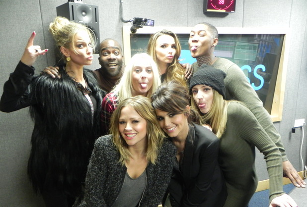 Girls Aloud at Kiss FM studios