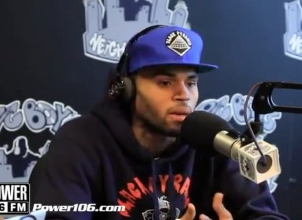 Chris Brown speaks on Power 106 radio station