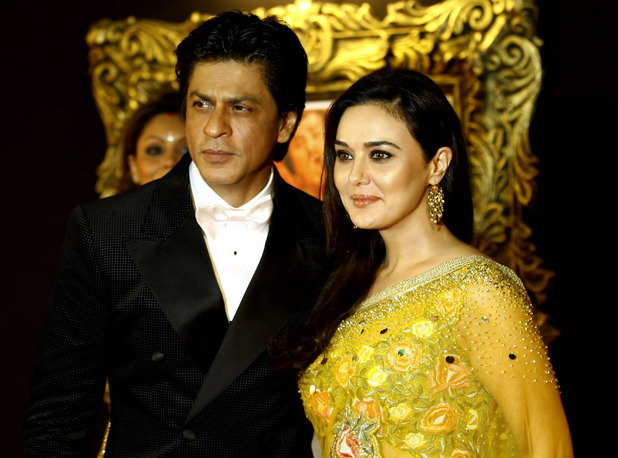 'Jab Tak Hain Jaan' premiere in Mumbai, India: Shah Rukh Khan with fellow actor Preity Zinta