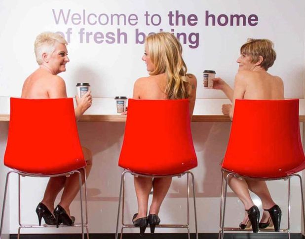 Greggs workers strip off for charity