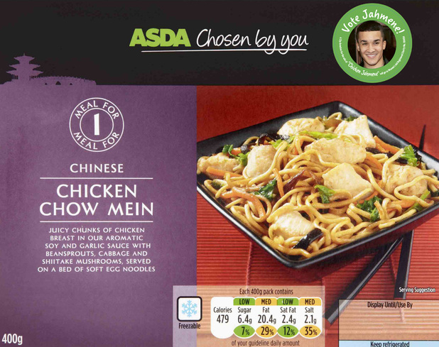 Asda's chicken chow mein 'Chicken Jahmene'