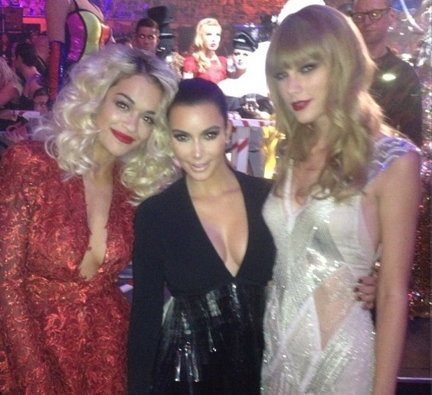 Kim Kardashian, Rita Ora and Taylor Swift at the MTV Europe Music Awards