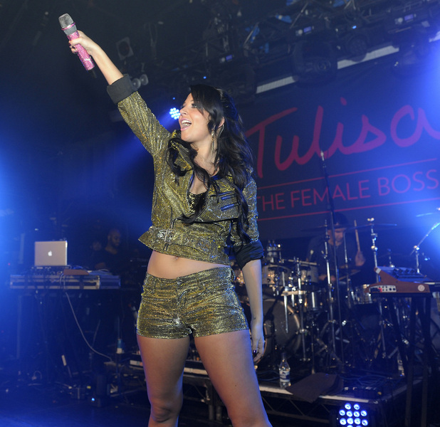 Tulisa Contostavlos performing at London's G.A.Y nightclub London, England - 17.11.12 Credit Mandatory: Chris Jepson/WENN.com
