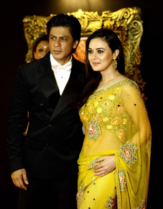 Shah Rukh Khan with fellow actor Preity Zinta