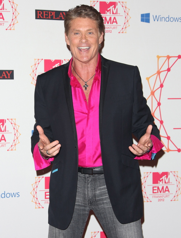 David Hasselhoff The MTV EMA's 2012 held at Festhalle - Arrivals Frankfurt, Germany