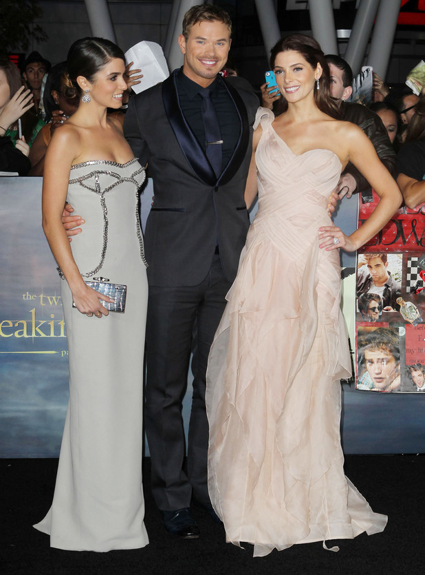 Nikki Reed, Kellan Lutz, Ashley Greene at the premiere of 'The Twilight Saga: Breaking Dawn - Part 2' at Nokia Theatre L.A. Live. Los Angeles, California - 12.11.12 Mandatory Credit: FayesVision/WENN.com