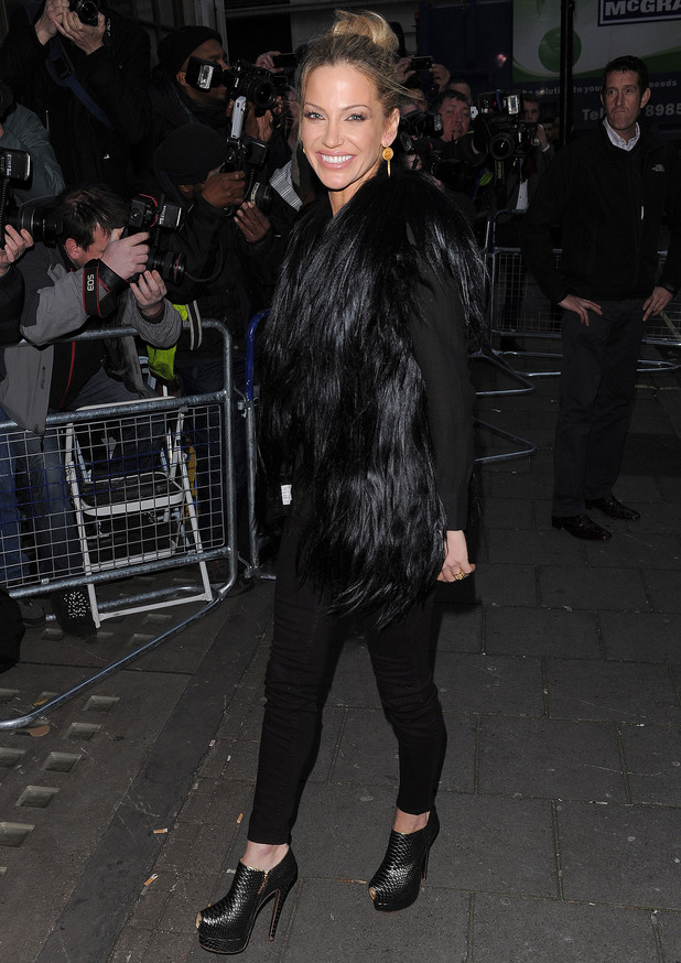 Sarah Harding of Girls Aloud at the BBC Radio 1 Studios