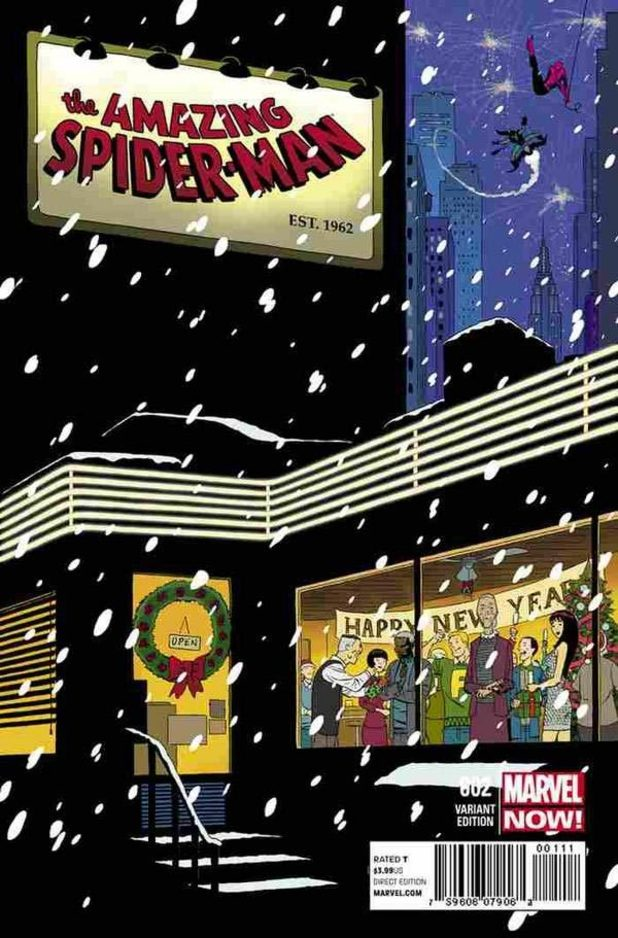 The Amazing Spider-Man #700 Christmas cover