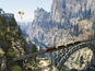 Grand Theft Auto 5 screens showcase aerial activities and locations.