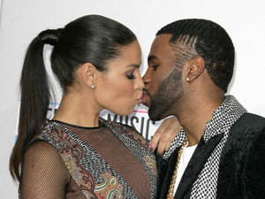Jordin Sparks and  boyfriend Jason Derulo kissing