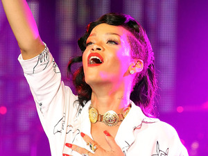 Rihanna performs a secret gig as part of her 777 tour at the HMV Forum in Kentish Town, London.
