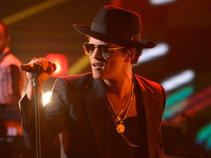 The X Factor Results Show: Bruno Mars performs.