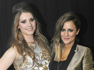 Ella Henderson and Caroline Flack at GAY Heaven.