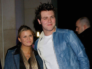 Kerry Katona and Brian McFadden photographed together in March 2003