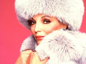Joan Collins as Alexis Carrington on Dynasty.
