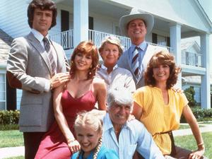 The Cast of Dallas: Patrick Duffy, Victoria Principal, Barbara Bel Geddes, Larry Hagman, Linda Gray, Jim Davis, and Charlene Tilton.