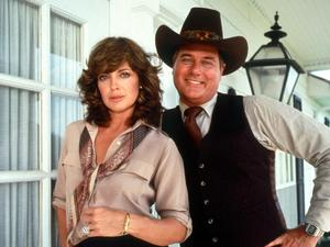 Larry Hagman and Linday Gray as JR and Sue Ellen Ewing.