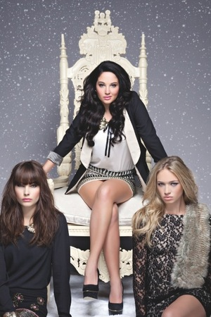 Miss Mode: Tulisa is the face of Bank's Christmas campaign
