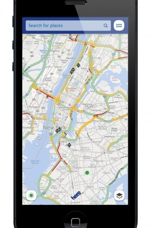 Nokia's HERE maps app on iOS