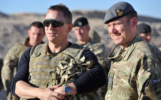 Daniel Craig Visits Troops in Camp Bastion, Afghanistan 