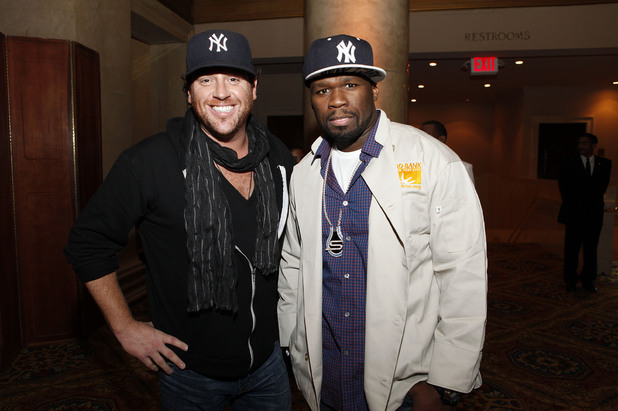 50 Cent with Food Network's Scott Conant