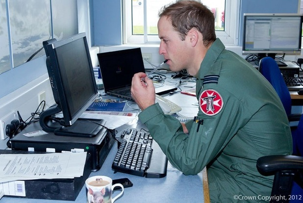 Prince William at work as an RAF search and rescue helicopter pilot.