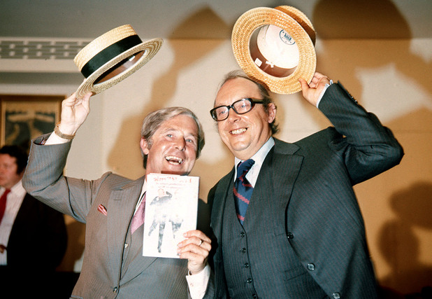 Eric Morecambe and Ernie Wise launch their autobiography 'Eric and Ernie'