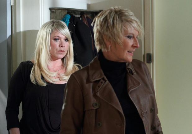 Shirley comes over to stir things up with Sharon - and she succeeds.