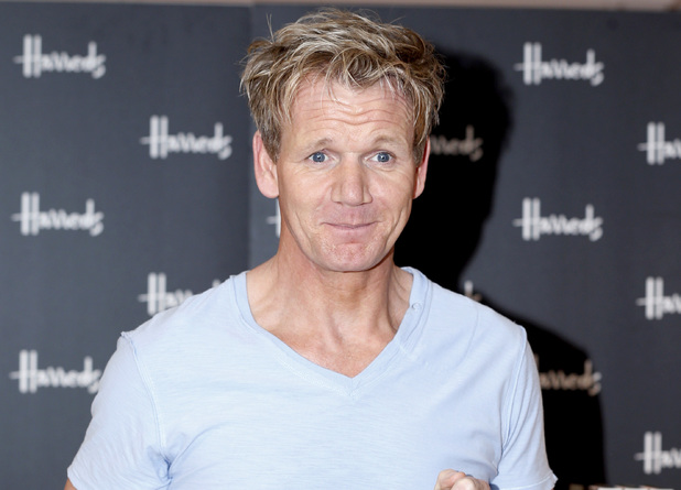 Gordon Ramsay attends a signing event for his new book 'Ultimate Cookery Course' at Harrods, London.