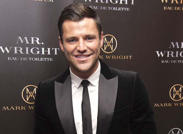 Mark Wright unveils his first fragrance collection featuring two scents, 'Mr Wright Pour Homme' and 'Mrs Wright Pour Femme' at the Soho Sanctum Hotel