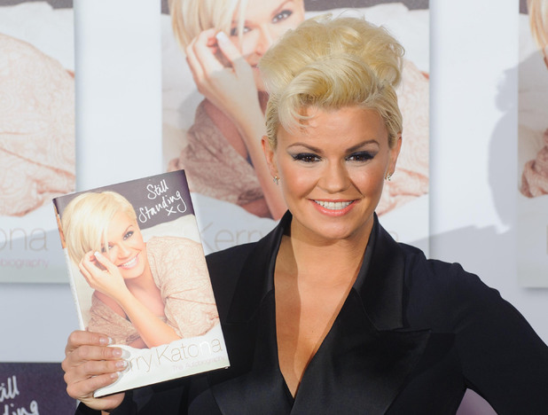 Kerry Katona at a photocall to launch her autobiography 'Still Standing' at the Century Club, in central London