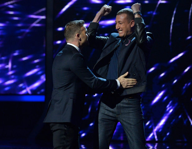 The X Factor Results Show: Gary Barlow and Christopher Maloney