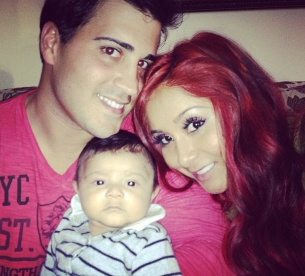 Snooki, Jionni LaValle and baby Lorenzo