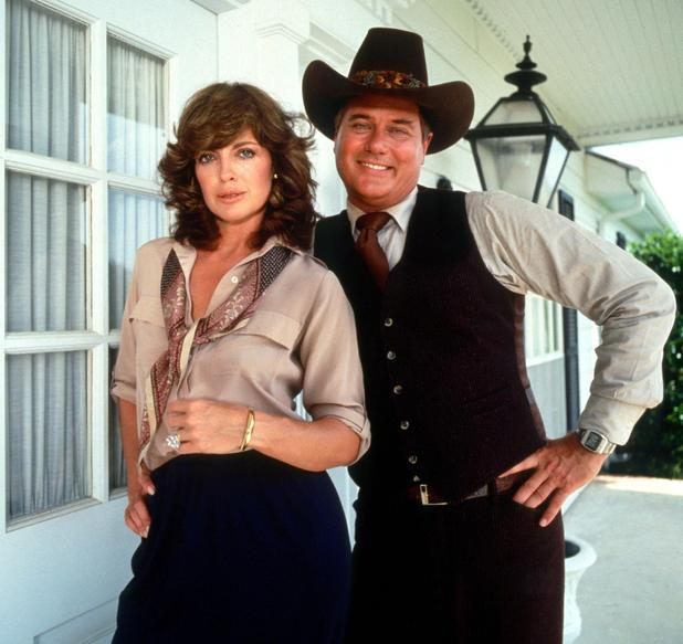 Larry Hagman and Linda Gray 