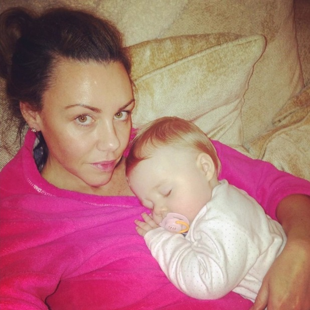 Michelle Heaton cuddles baby Faith before mastectomy
