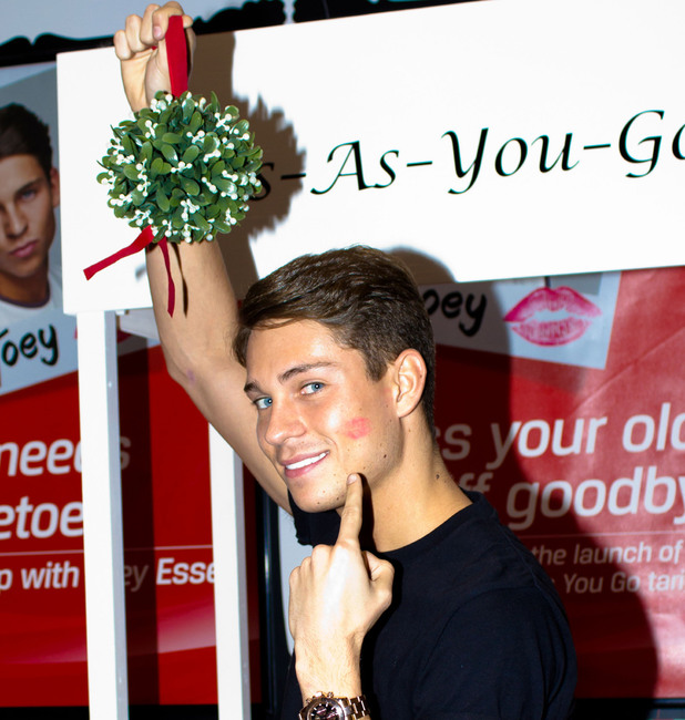 Joey Essex puckered up for an 'unlimited' Kiss-as-you-go challenge with Virgin Media, where he was kissed 118 times by fans in one minute, to support the launch of the new unlimited mobile tariffs', Thurrock, Essex, England - 24.11.12Featuring: Joey Essex Where: Thurrock, Essex, England When: 24 Nov 2012 Credit: WENN.com