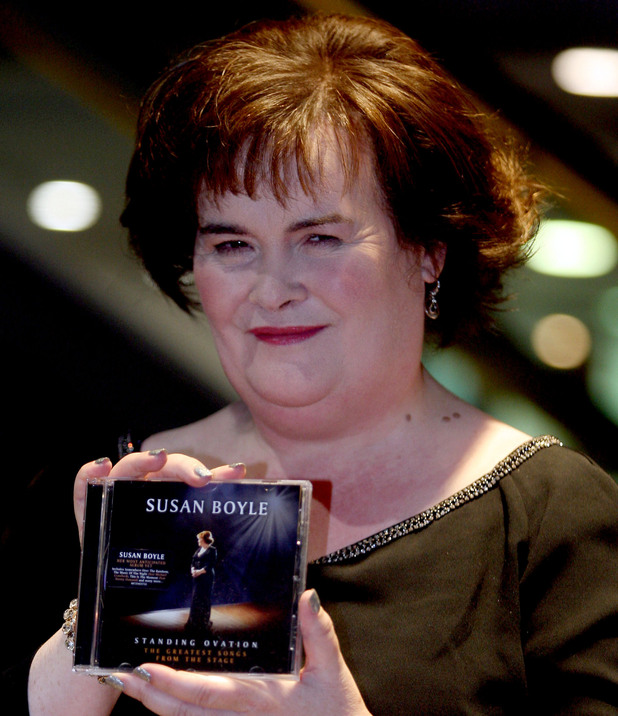 Susan Boyle signs copies of her new CD Standing Ovation at HMV Glasgow.