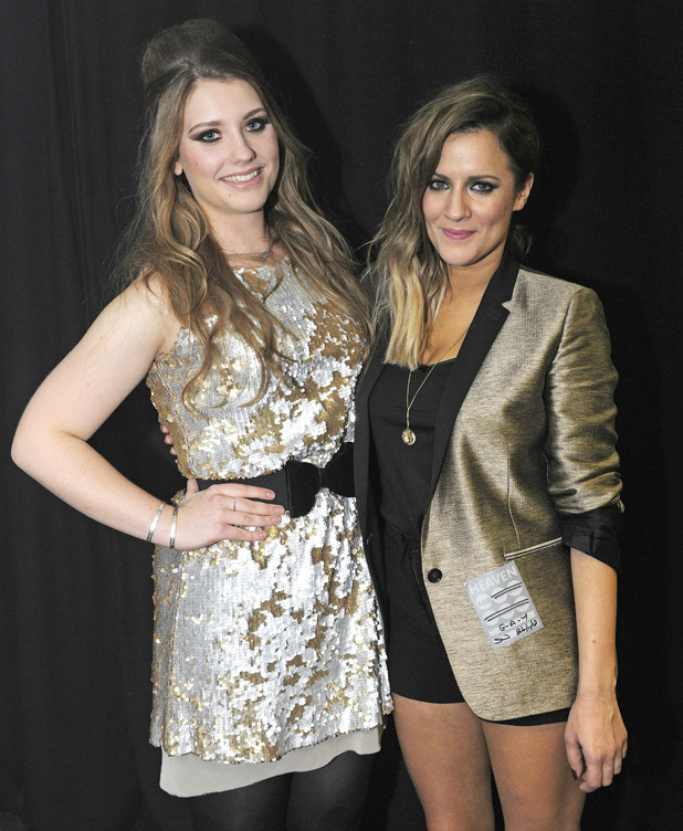 Ella Henderson and Caroline Flack 