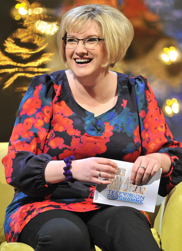 Sarah Millican during filming for The Sarah Millican Television Programme at Media City
